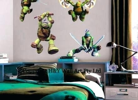 Tmnt Wall Decals Ninja Turtle Wall Decals Teenage Mutant Ninja Throughout Ninja Turtle Wall Art (Image 10 of 10)