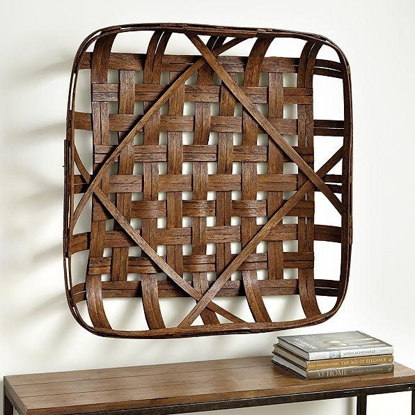 Tobacco Basket Wall Décor Within Woven Basket Wall Art (Image 4 of 10)