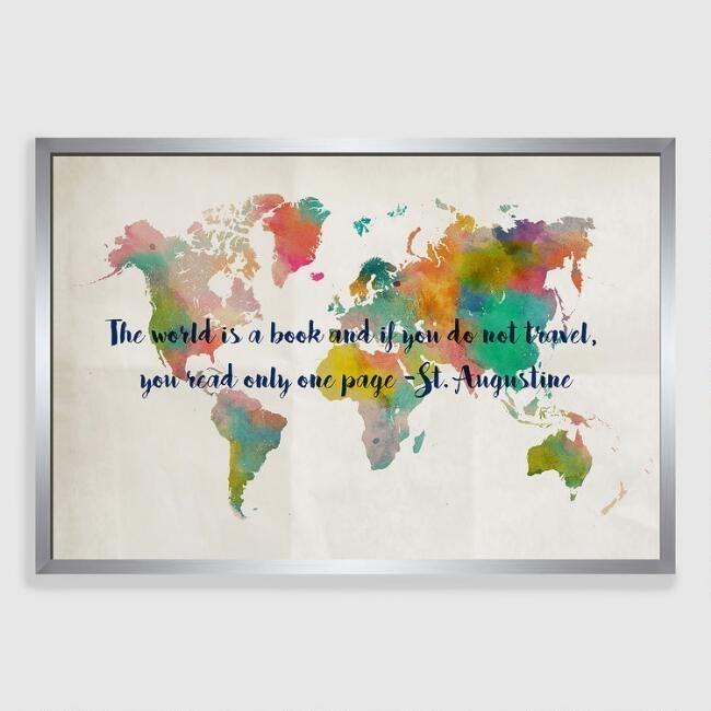 Travel Wall Art Interesting Maps World Market – Mycraftingbox With World Market Wall Art (Image 8 of 10)