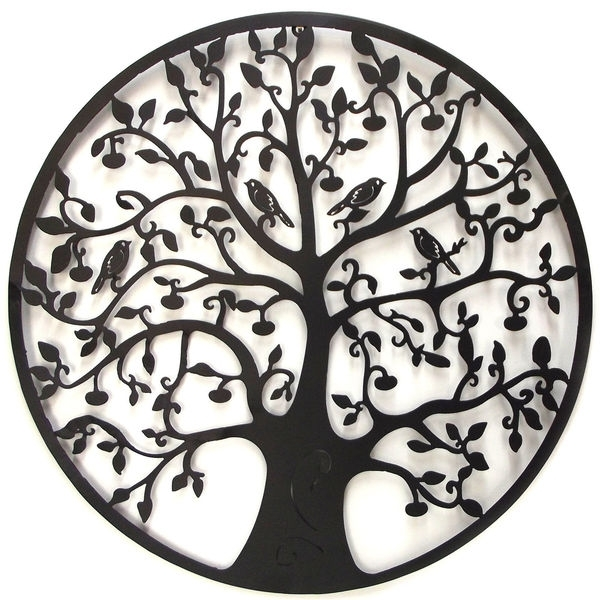 Tree Of Life Metal Wall Art 60Cm Throughout Tree Of Life Metal Wall Art (Image 9 of 10)