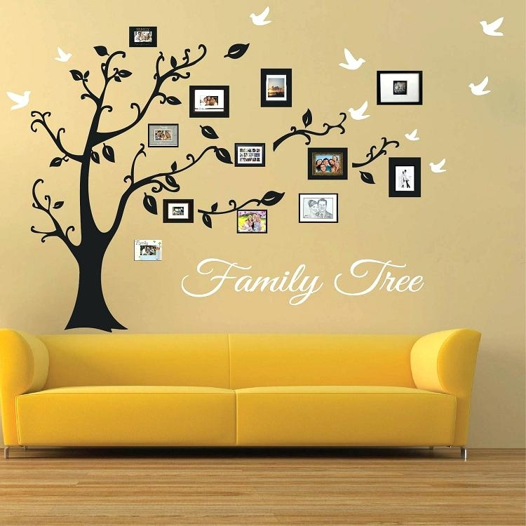 Tree Photo Collage Wall Art Family Picture Frames Picture Frame Regarding Family Tree Wall Art (Image 9 of 10)