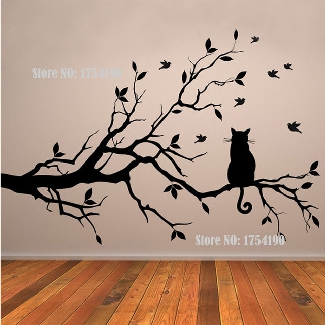 Tree Vinyl Wall Decal Adesivi Murali Glass Film Window Stickers Home In Tree Wall Art (Photo 4 of 10)
