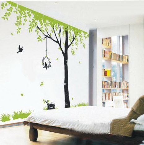 Tree Wall Decals Kids Wall Art Nature Wall Stickers Wall Decor Room Inside Nature Wall Art (Image 10 of 10)