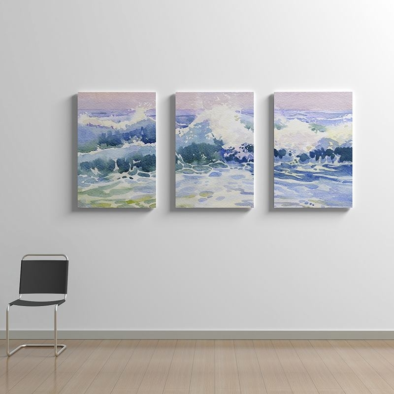 Triptych Canvas: Handmade 3 Panel Wall Art Printed With Your Designs With Triptych Wall Art (Photo 5 of 10)