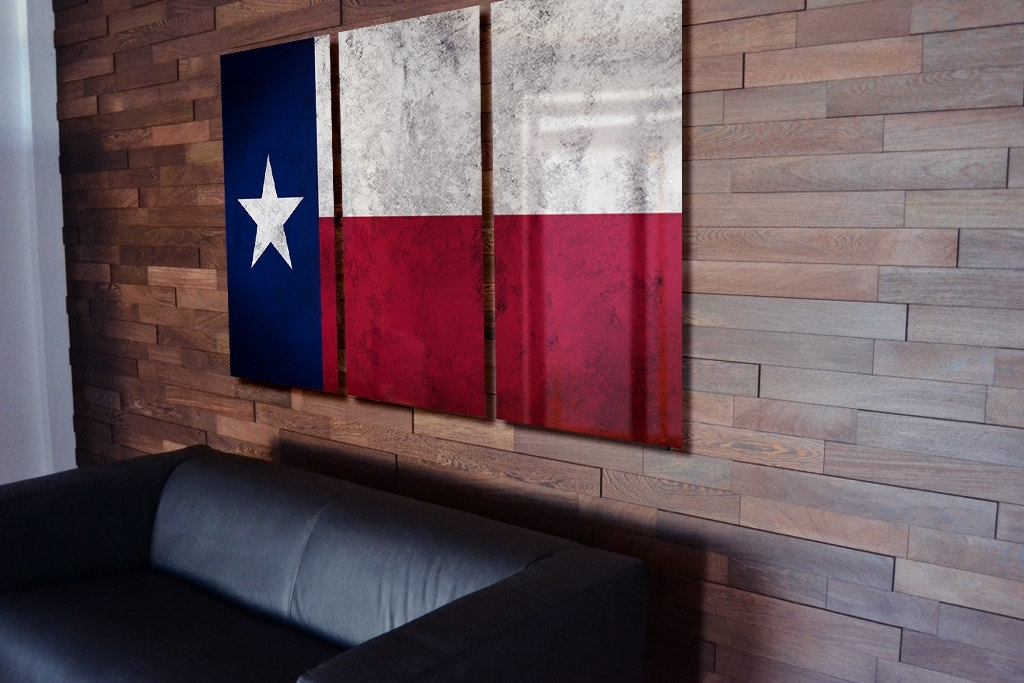Triptych Texas State Trend Texas Wall Art – Wall Decoration Ideas Inside Texas Wall Art (Image 10 of 10)