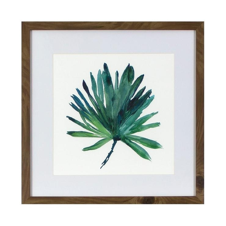 Tropical Leaf Framed Wall Art With Tropical Wall Art (Image 4 of 10)