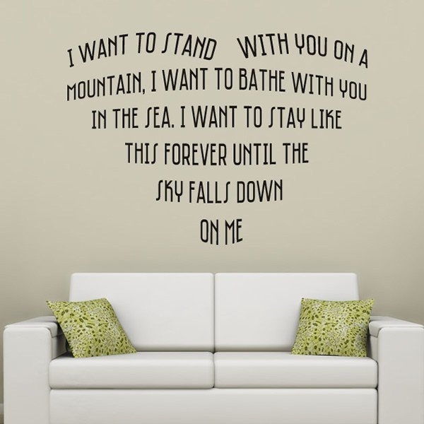 Truly Madly Deeply Wall Sticker Savage Garden Wall Decal Wedding With Regard To Song Lyric Wall Art (Image 10 of 10)
