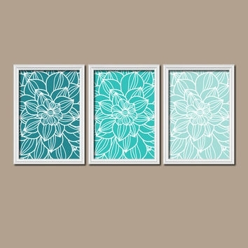 Turquoise Wall Art Mesmerizing Shop Turquoise Wall Picture On Wanelo With Turquoise Wall Art (Photo 6 of 10)