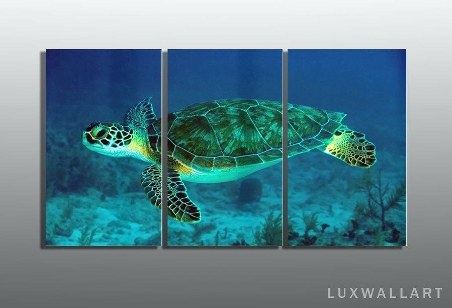Turtle Metal Wall Art Luxury Sea Turtle Metal Wall Art About Remodel Throughout Sea Turtle Canvas Wall Art (Photo 4 of 10)