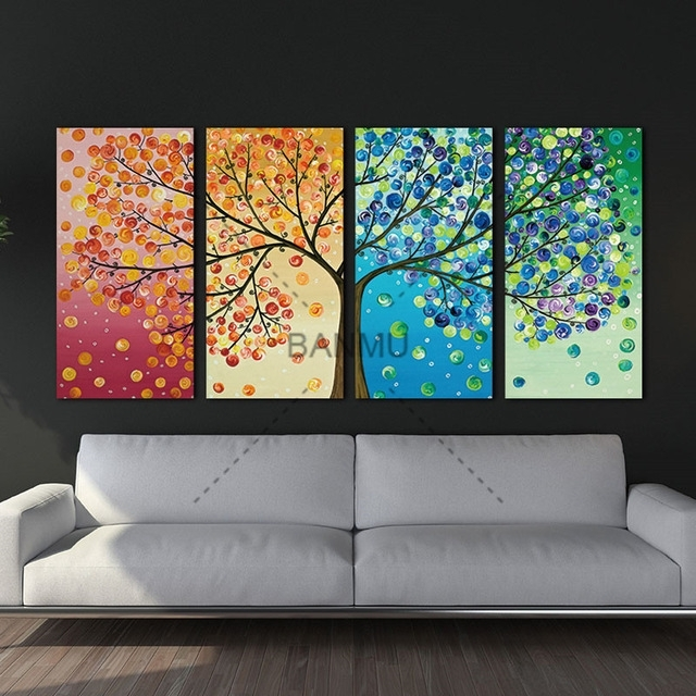 Unframe Wall Art Canvas Painting Decoration For Living Room Picture Intended For Wall Art Canvas (Photo 1 of 10)