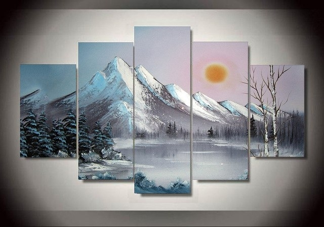 Unframed Printed Ross Snow Landscape Painting Wall Art Children's In Ross Wall Art (Photo 1 of 10)
