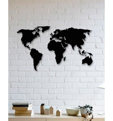 Unique Custom Designed Wall Decoration Product,world Map Metal Wall Art With Regard To Wall Art World Map (Photo 1 of 10)