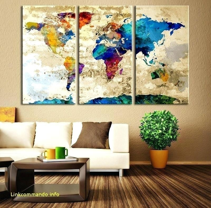 Us Map Wall Art Us Map Wall Decor Map Wall Decor Luxury Watercolor Intended For Maps Wall Art (Photo 6 of 10)