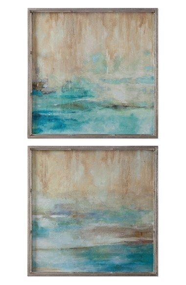 Uttermost 'through The Mist' Abstract Framed Wall Art (Set Of 2 With Regard To Set Of 2 Framed Wall Art (Photo 9 of 10)