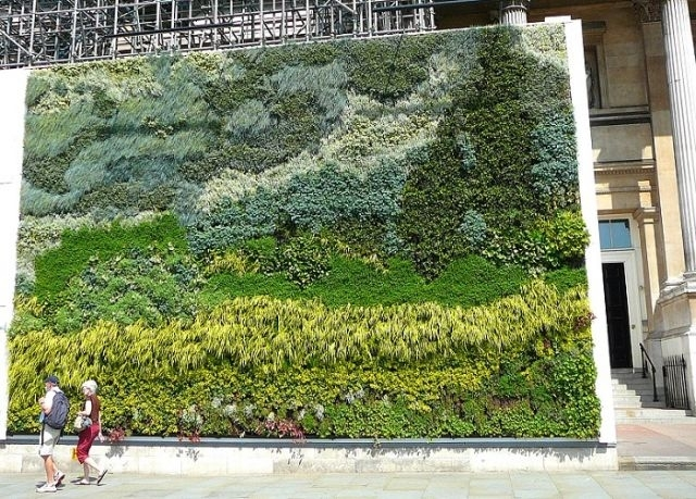 Van Gogh Vertical Garden In London's Trafalgar Square – Living Walls Throughout Living Wall Art (View 10 of 10)