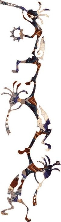Vertical Happy Kokopelli Dance 24 Inch Southwest Metal Wall Art Inside Vertical Metal Wall Art (Image 6 of 10)