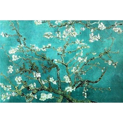 Vincent Van Gogh Turquoise Almond Branches In Bloom, San Remy Art With Regard To Turquoise Wall Art (Image 10 of 10)