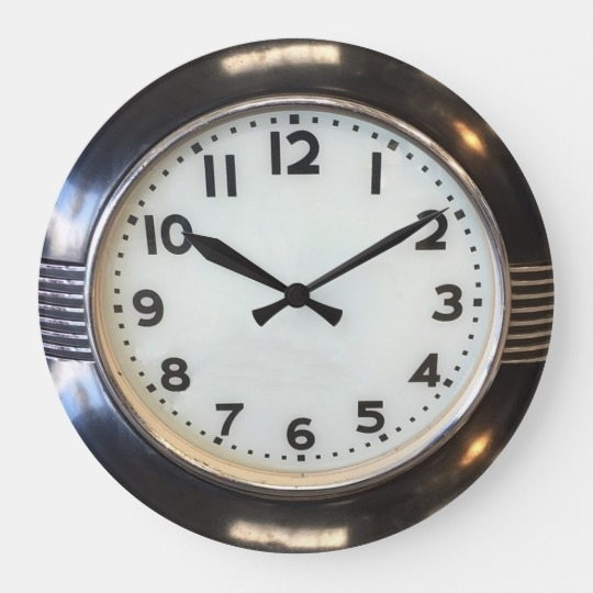 Vintage 1930's Style Art Deco Wall Clock | Zazzle With Regard To Art Deco Wall Clock (Image 10 of 10)