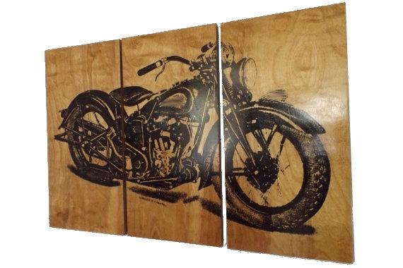 Vintage Motorcycle Screen Vintage Motorcycle Wall Art – Wall Regarding Motorcycle Wall Art (Image 10 of 10)