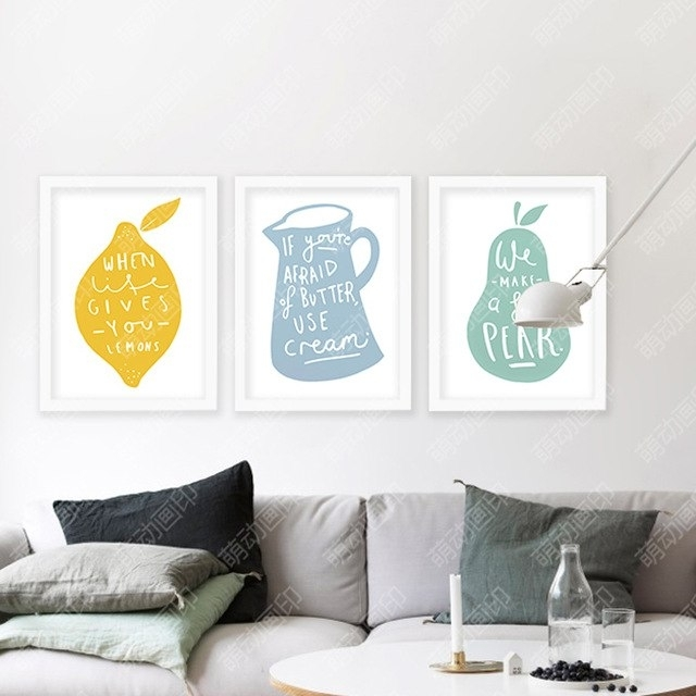 Wall Art Canvas Lemon Posters And Prints Wall Painting Art Print Pertaining To Lemon Wall Art (Image 10 of 10)
