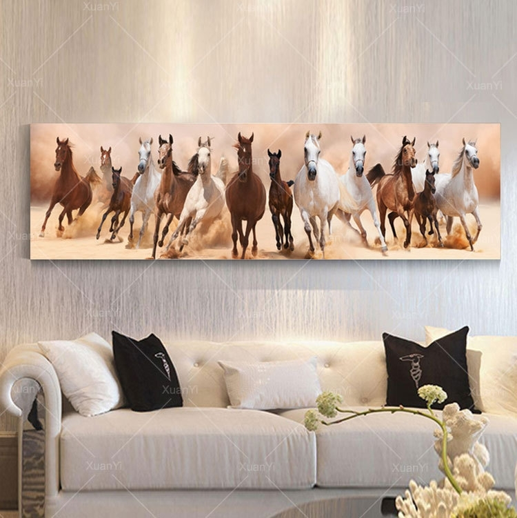 Wall Art Canvas Oil Painting Beautiful Landscape Horse Picture Intended For Horses Wall Art (Image 9 of 10)