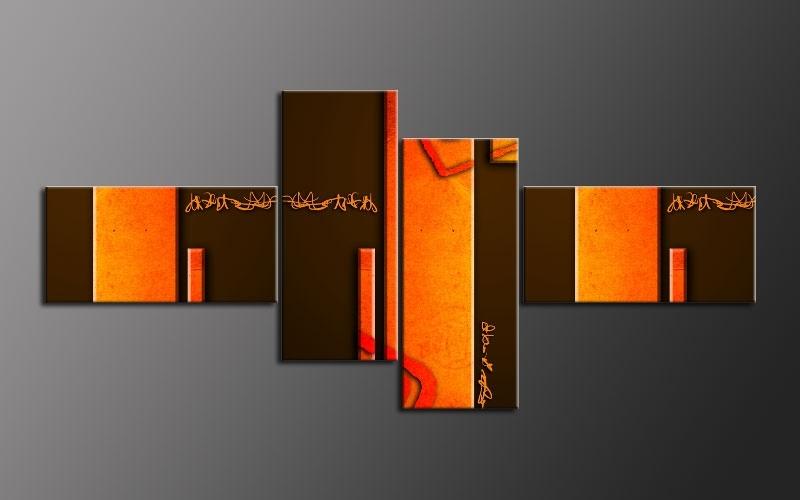 Wall Art Design Ideas: Multi Orange Wall Art Panel Great Themes Throughout Orange Wall Art (Image 10 of 10)