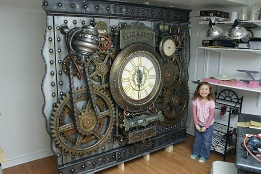 Wall Art Designs: Steampunk Wall Art Home Design Ideas Wall Decal Intended For Steampunk Wall Art (View 7 of 10)
