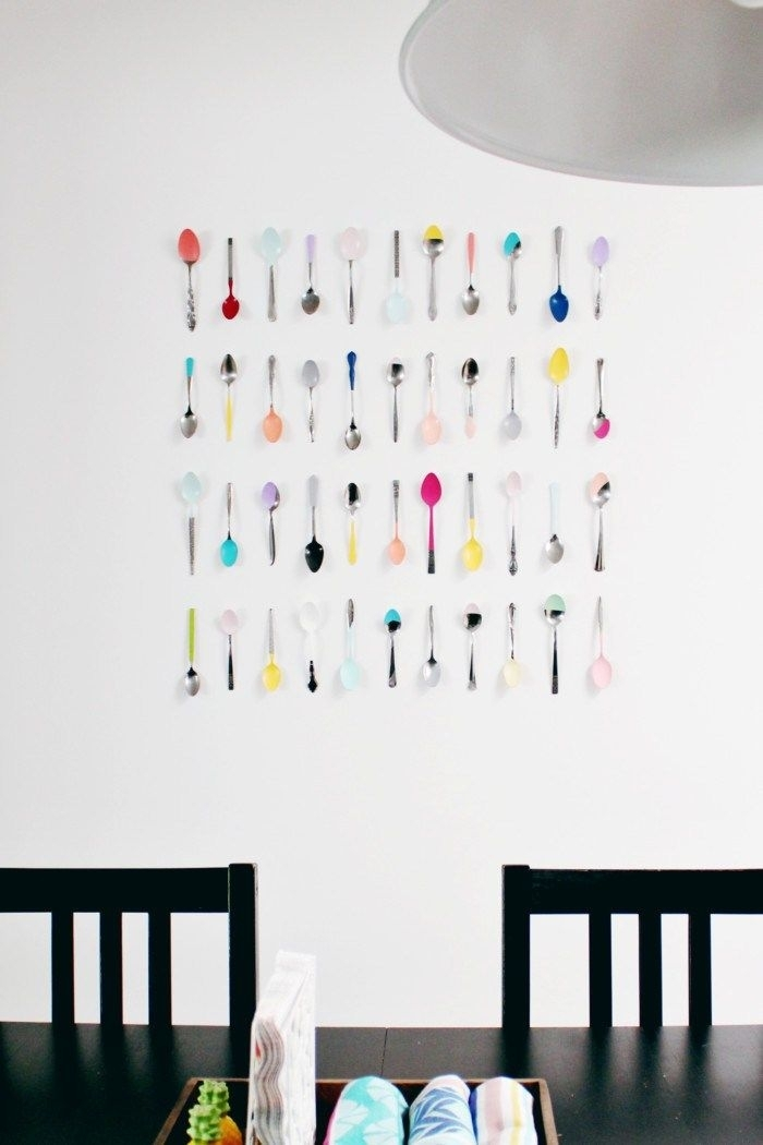 Wall Art Diy | Decor Hacks | Pinterest | Kitchen Wall Art, Spoon And Pertaining To Wall Art For Kitchen (Image 9 of 10)