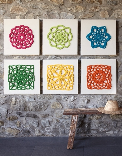 Wall Art – Home – Spring / Summer – Models & Patterns | Katia With Crochet Wall Art (Image 10 of 10)