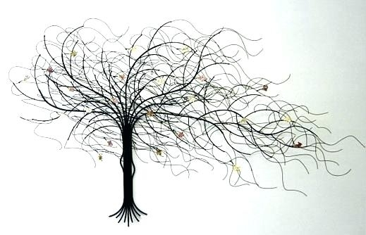 Wall Art Metal Tree Metal Tree Wall Hanging Large Metal Tree Wall Intended For Metal Wall Art Trees (Image 10 of 10)