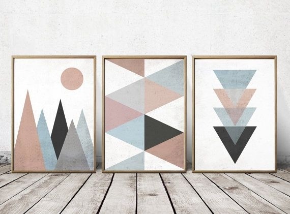 Wall Art Prints Abstract Art Prints Geometric Decor | To Make With Geometric Wall Art (Image 10 of 10)