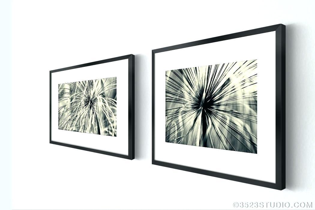 Wall Art Set Of 4 Framed Art Sets Abstract Grass From Flower Power Regarding Wall Art Sets (Image 8 of 10)