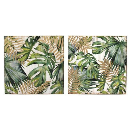 Wall Art  Tropical Leaves Set Of 2 | Higheight Home & Living Regarding Tropical Wall Art (Image 10 of 10)