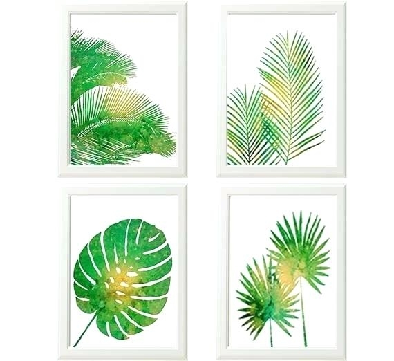 Wall Art Tropical Palm Leaf Art Tropical Vibes Palm Leaves Art Print Inside Tropical Wall Art (Image 9 of 10)