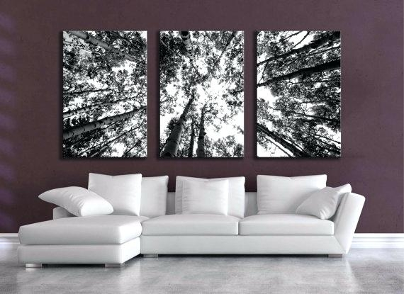 Wall Art White 2 Pieces Set Prints Abstract Grass Black And White Throughout Black And White Large Canvas Wall Art (Image 10 of 10)