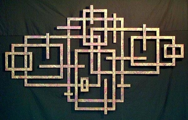 Wall Arts ~ Geometric Metal Wall Art Hand Crafted Sculpture Copper With Geometric Metal Wall Art (Image 10 of 10)