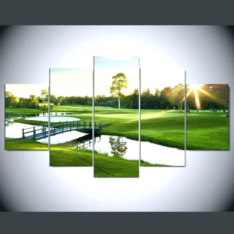 Wall Arts: Golf Wall Art. Golf Course Wall Art (Image 10 of 10)