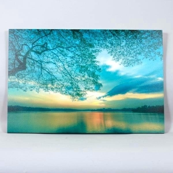 Wall Arts ~ Large Teal Wall Art Arts Designs Oversized Canvas Lake With Regard To Oversized Teal Canvas Wall Art (Image 10 of 10)