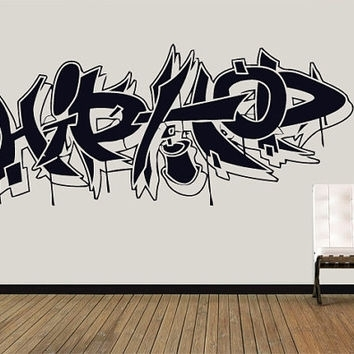 Wall Decal Vinyl Sticker Decals Art Decor From Creativewalldecals Intended For Hip Hop Wall Art (Image 8 of 10)
