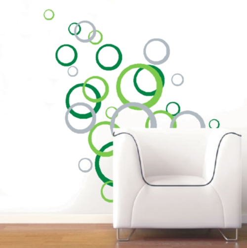 "Wall Decals – Abstract ""circles"" Vinyl Decals – Wall Art Stickers For Circle Wall Art (Image 9 of 10)"