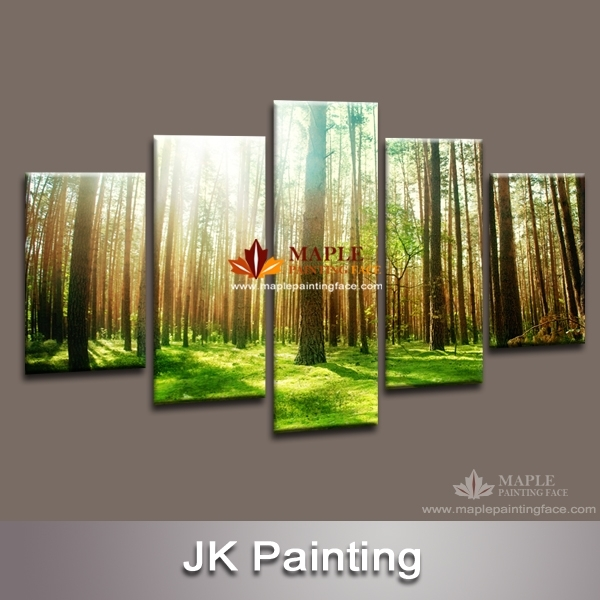 Wall Decor Canvas 5 Piece Canvas Art Decorative Painting Canvas With Regard To 5 Piece Wall Art Canvas (Image 10 of 10)