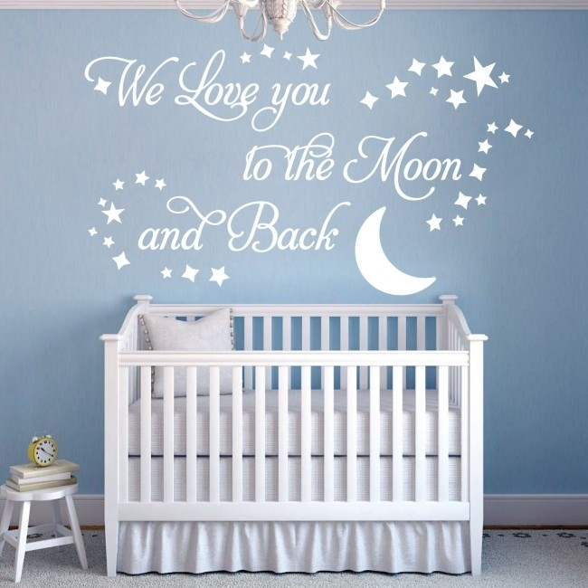 Wall Designer | We Love You To The Moon And Back – Vinyl Wall Art Regarding I Love You To The Moon And Back Wall Art (View 6 of 10)