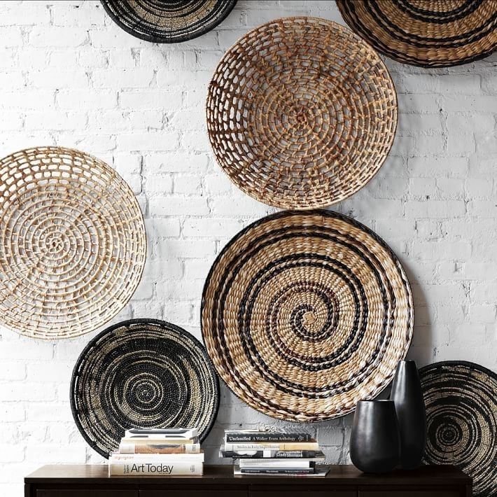 Wall: Mesmerizing Woven Basket Wall Art Flat Best 25 Baskets On Throughout Woven Basket Wall Art (Image 5 of 10)