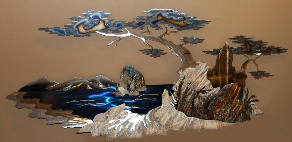 Wall Metal Arts Wall Art Sculpture Glow Metal Wall Art Trees And Inside Metal Wall Art Sculptures (Image 10 of 10)