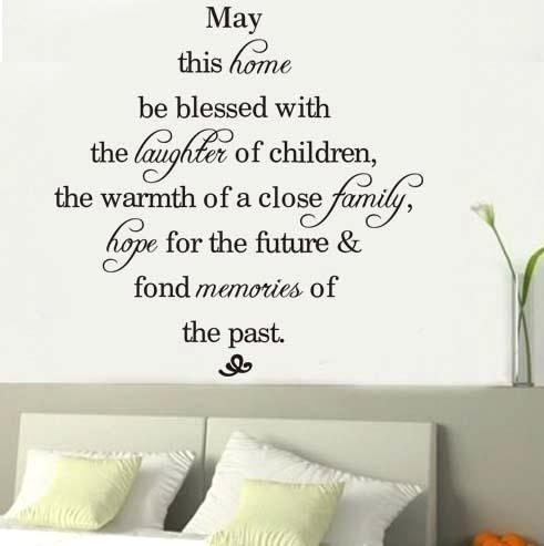 Wall Sticker Sayings Family Sayings Wall Art House Rule Wall Decals Inside Wall Art Sayings (Image 10 of 10)
