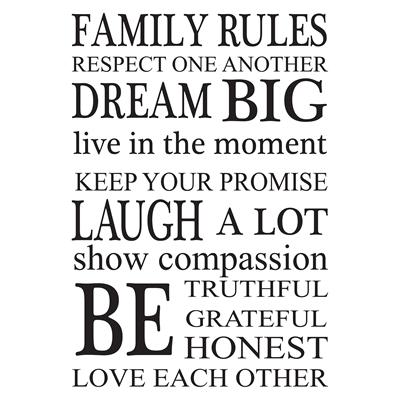 Wallpops Family Rules Wall Art Kit | Lowe's Canada With Family Rules Wall Art (View 6 of 10)