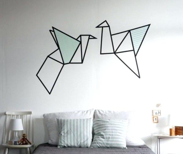 Washi Tape Wall Brilliant Wall Art Ideas That Want To Recreate At With Regard To Washi Tape Wall Art (View 5 of 10)