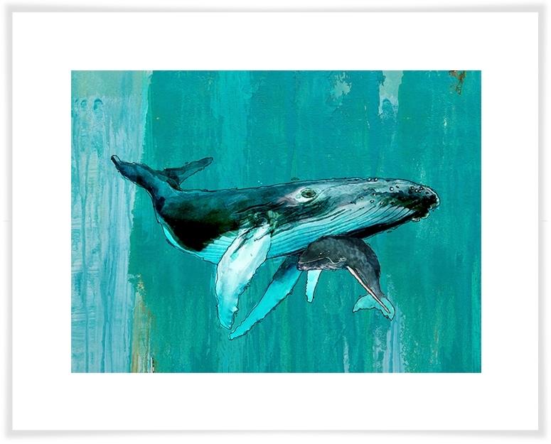 Whale & Calf, Beach & Ocean Canvas Wall Art | Greenbox With Whale Canvas Wall Art (View 6 of 10)