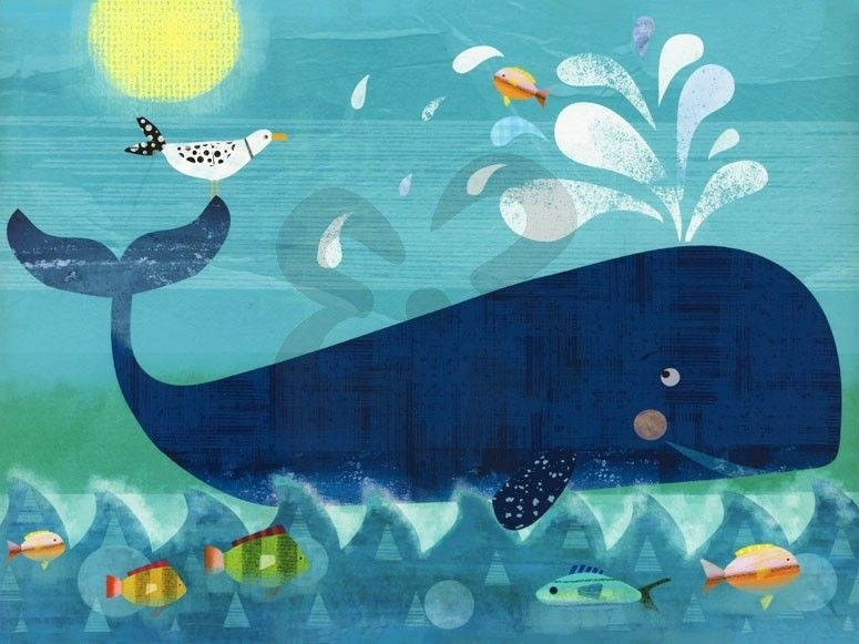 Whale Pals – Beach & Ocean Canvas Wall Art | Oopsy Daisy | More Naše Regarding Whale Canvas Wall Art (Image 9 of 10)