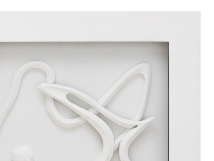 White Abstract 3D Wall Art With White Wall Art (Image 6 of 10)